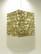 Lokta-kuutio 30x30x40cm, luonnonvalkoinen/kultainen bambunlehti