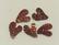Puhvelinsarvinappi, sydän, punainen
