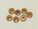 Puhvelinluunappi, pyöreä 22mm, hennavärjätty