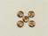 Puhvelinluunappi, pyöreä 19mm, 2-värinen, hennavärjätty