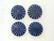 Puhvelinluunappi, pyöreä, sädekuvio, 25mm, sininen
