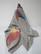 Iso, käsinmaalattu huivi kiinalaista silkkiä, harmaa-moniväri