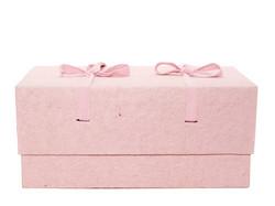 C16, vaaleanpunainen, 4-kulmainen vauva-arkku M