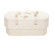 C01 butterfly, natural white, felt oval babycasket L