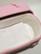 C15C perhonen, vaaleanpunainen, huopa ovaali vauva-arkku M