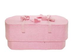 C15C butterfly, light pink, felt oval babycasket S