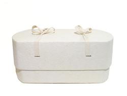 C01, valkea, ovaali vauva-arkku L