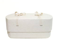 C01, natural white, oval babycasket M