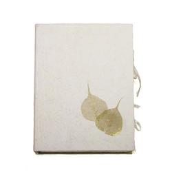 Condolence box, C01 gold pipal, natural white