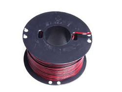 Asennusjohto PVC puna-musta, 2x0,75mm2