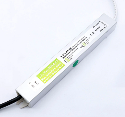 LED Muuntaja 30W, 12V, IP67