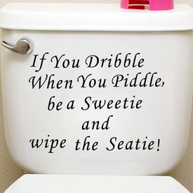 Sisustusteksti Wipe The Seatie