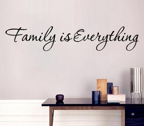 Sisustusteksti Family Is Everything