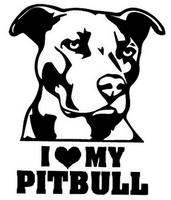 Sisustustarra I Love My Pitbull