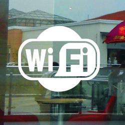 Wi-Fi -tarra, valkoinen