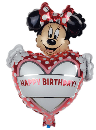 Foliopallo Minni Hiiri Happy Birthday 40x30cm