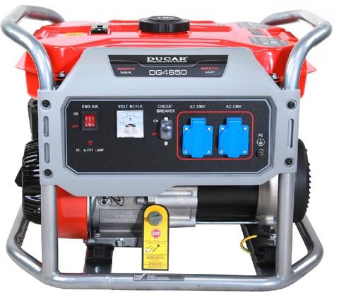 Aggregaatti Ducar DG4650, 3100W, 230V, bensiini