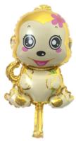 Foliopallo Kultainen apina 44x26cm