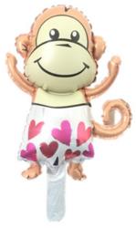 Foliopallo Kultainen vauva-apina 40x25cm