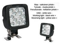 LED-työ- ja peruutusvalo 17W, 12-35V, 2400lm