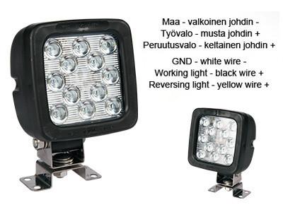 LED-työ- ja peruutusvalo 18W, 9-36V, 1440lm