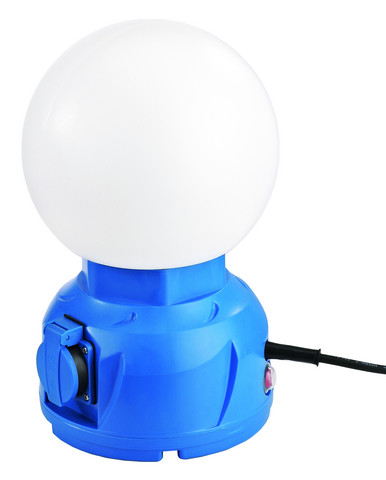 LED Energie Globe työvalo 20W, 2 x pistorasialla