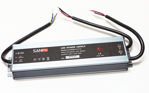 LED muuntaja 200W, 12V, IP67, Ultra-thin, Sanpu