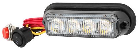 CRX LED Välähdysvalo 114mm, 12/24V