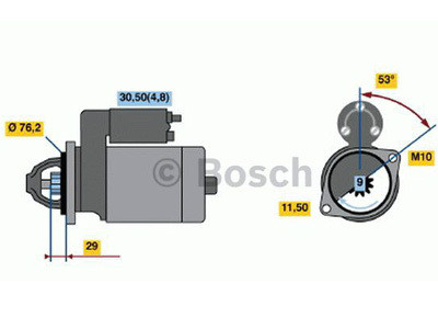 Starttimoottori Bosch 0001107423