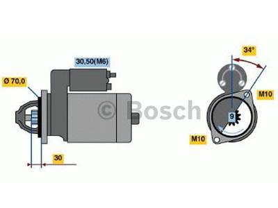 Starttimoottori Bosch 0001107540