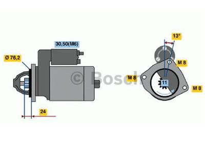 Starttimoottori Bosch 0001109011