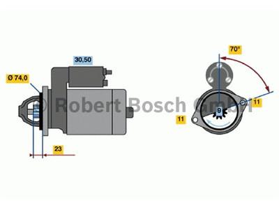 Starttimoottori Bosch 0001109035
