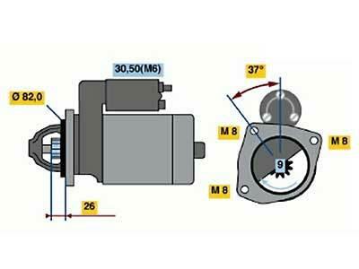 Starttimoottori Bosch 0001109302