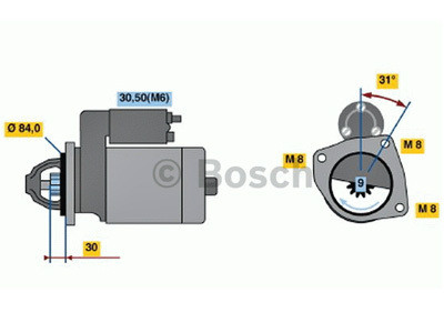 Starttimoottori Bosch 0001109306