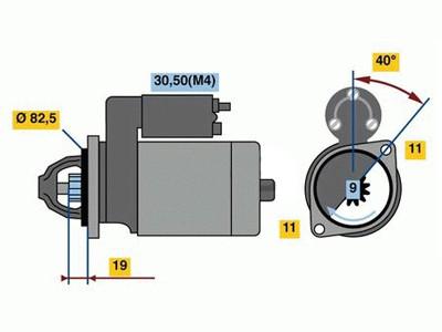 Starttimoottori Bosch 0001109355