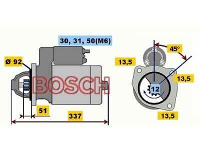 Starttimoottori Bosch 0001231004