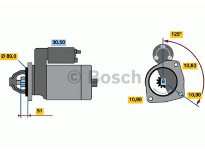 Starttimoottori Bosch 0001263049