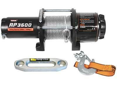 Sähkövinssi nylonköydellä IronX 12V 1589kg, kauko-ohjain