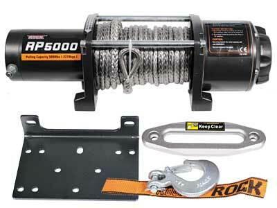 Sähkövinssi nylonköydellä IronX 12V 2268kg, kauko-ohjain