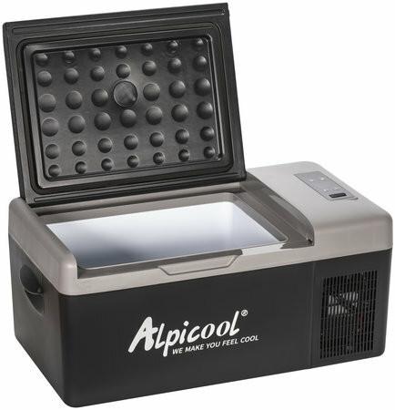 Alpicool matkajääkaappi 15L, 12/24V, musta