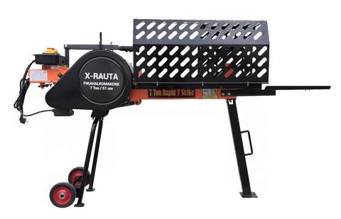 X-Rauta pikahalkomakone 7tn, 51cm (halkaisuaika 2 sekuntia)