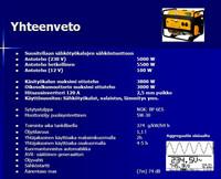 Loppu! Meister R5500D Aggregaatti 5500W bensiini