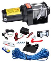 Sähkövinssi Panther 12V 1350kg, langallinen + langaton kauko-ohjain, vaijeri + nylonköysi