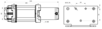 Sähkövinssi nylonköydellä 12V 2040kg, kauko-ohjain + langaton kauko-ohjain