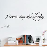Sisustustarra Never Stop Dreaming