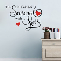 Sisustusteksti Kitchen Seasoned Love