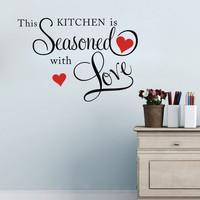Sisustusteksti Kitchen Seasoned Love
