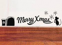 Sisustustarra Merry Xmas Hiiri