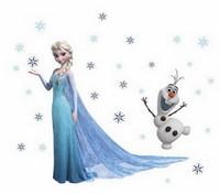 Sisustustarra Kuningatar Elsa ja Olaf (Frozen)