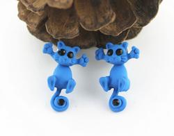 Kissa Korvakorut Sininen